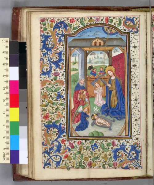 F. 59v. Miniature Nativity